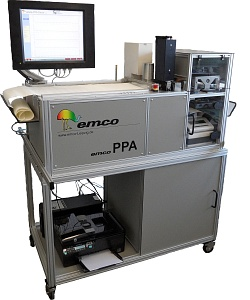 Hệ thống kiểm tra giấy tự động (Độ nhẵn Bekk, độ xốp Gurley, độ dày, độ ẩm và định lượng)